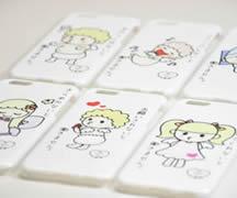 iphoneケース、幸せ天使部シリーズりちょ作品